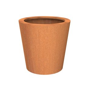 Corten Steel flower pot for outdoors