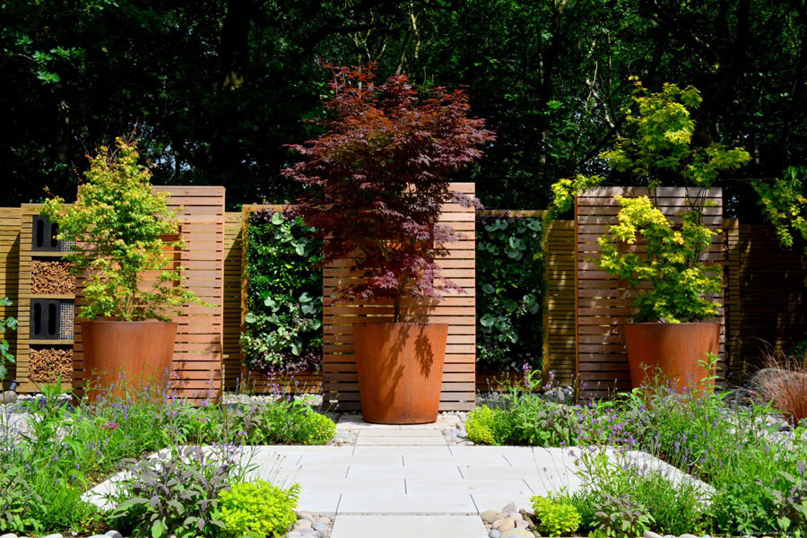 Corten Steel planters available at Taylor Made