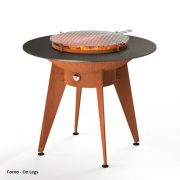 Corten Steel Forno BBQ on legs