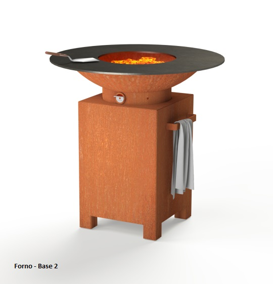 Corten Steel Forno BBQ with square base