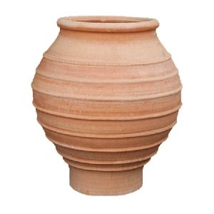 Hand-thrown terracotta plant pot