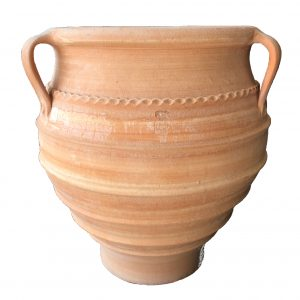 Terracotta vase for planting outdoors