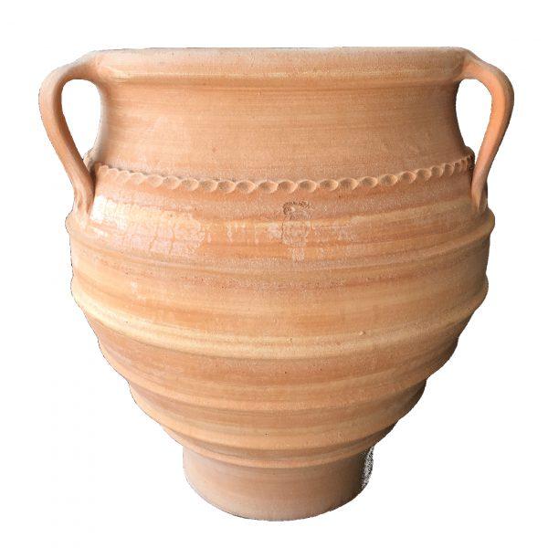 Terracotta vase for planting outdoors