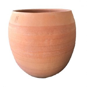 Terracotta bowl for planting outdoors
