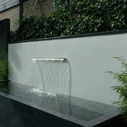 Contemporary water feature on a wall