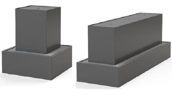 Aluminium blocks for a garden feature