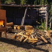 Lifestyle shot of the Bardi wood burner