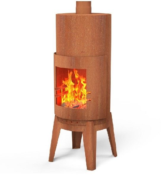 Corten Steel garden wood burner
