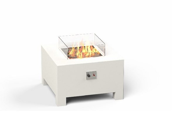 Small gas burner in white