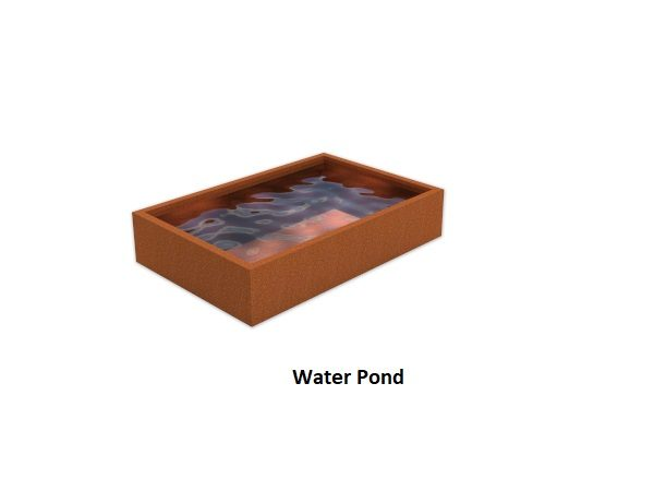 Water pond made from Corten Steel