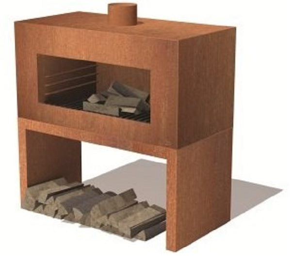 Corten Steel Enok wood burner