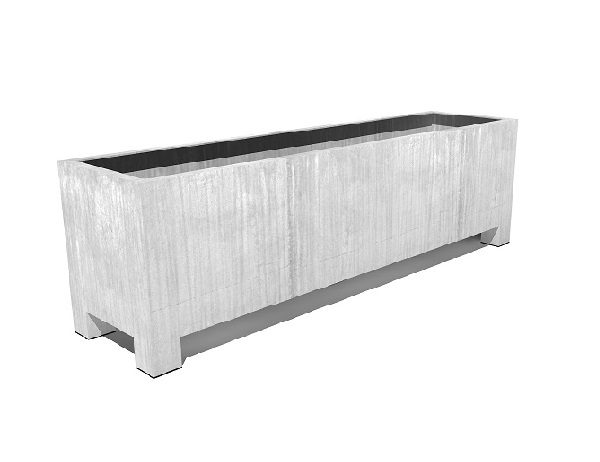Vadim Trough made from Galvanised Steel