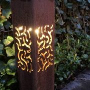 Corten Steel outdoor lighting