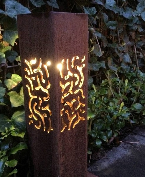Corten Steel outdoor lighting