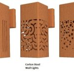 Corten steel wall lighting