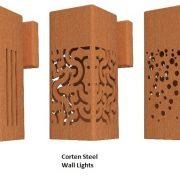 Corten steel wall lighting