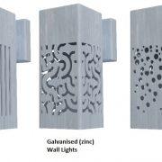 Galvanised Steel wall lighting