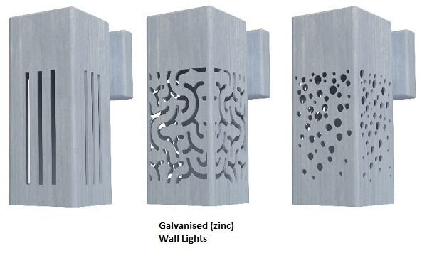 Galvanised Steel wall lighting