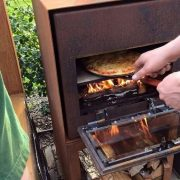 Pizza oven for cooking outdoors