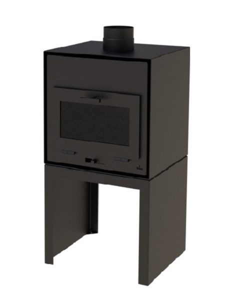 Black outdoor wood burner