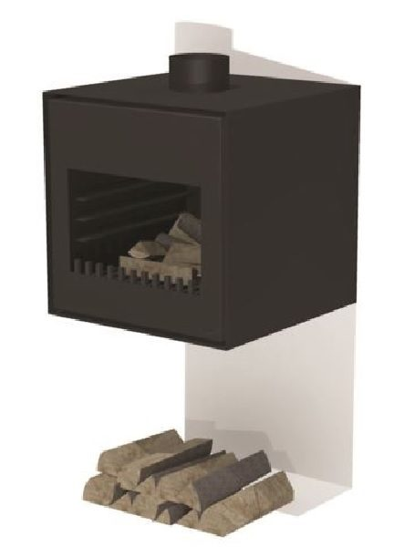Thor wood burner in black