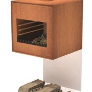Small square wood burner