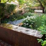 Water feature made from Corten Steel