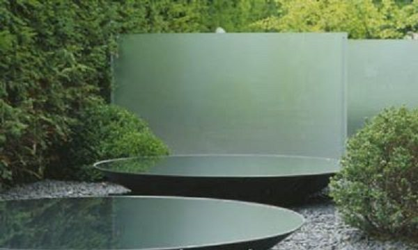 Unique water bowls for garden feature