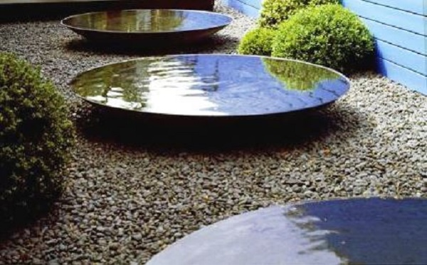 Corten Steel Water Bowls Rippling Water Feature Taylor