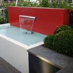 Red and White Water Feature