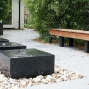 Small water features on gravel