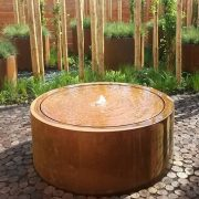 Round Water Feature in a modern garden