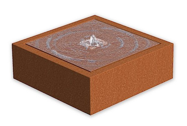 Corten Steel Water Feature Block