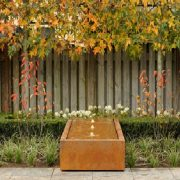 Water Feature Table in a garden
