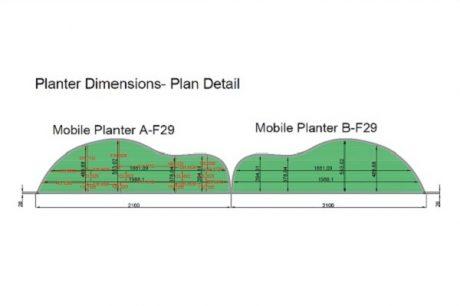 Planter dimensions