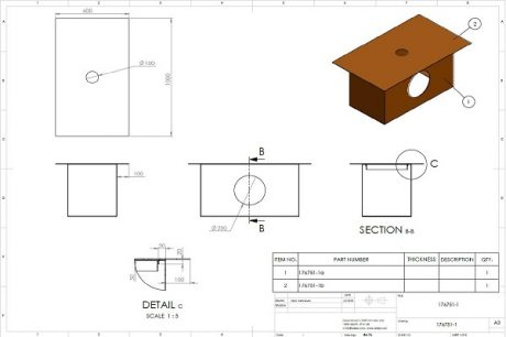 Project plan for Corten Steel planters