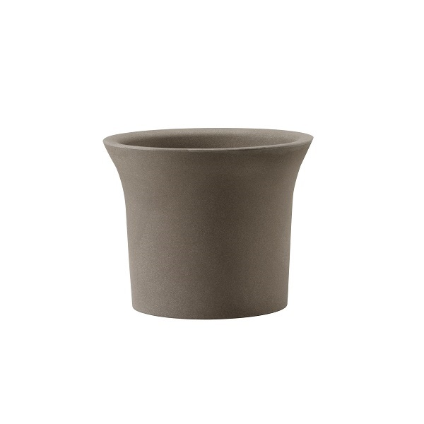 Flora composite plant pot in brown