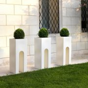 Roma Composite Planter - White