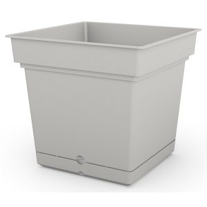 Self watering composite planter in white