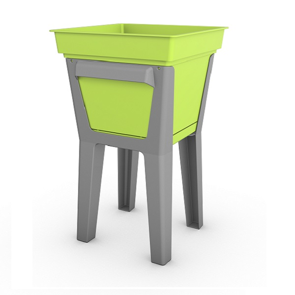 Green Composite Planter on leg stand