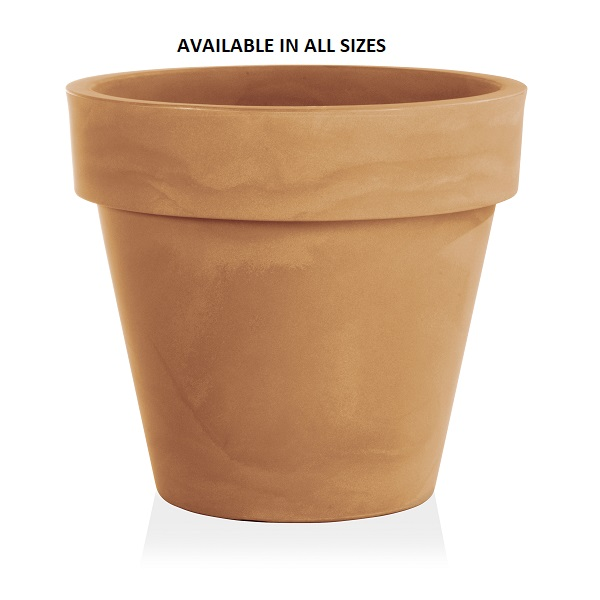 Composite Plant Pot in Orange