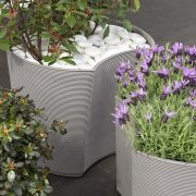 Close up of populated Modular Planters