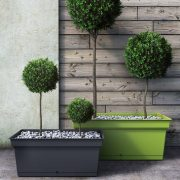 Populated Aqua Troughs in green and grey