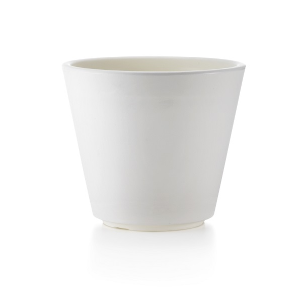 White Plastic Plant Pot