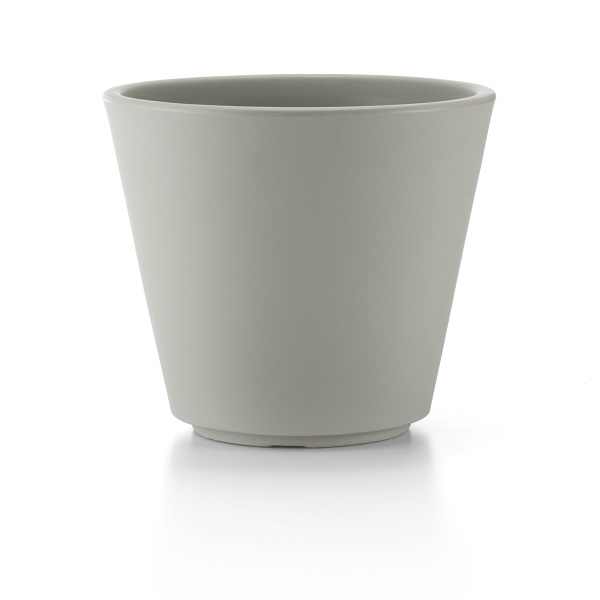 Ribeira Plastic Plant Pot in Grey
