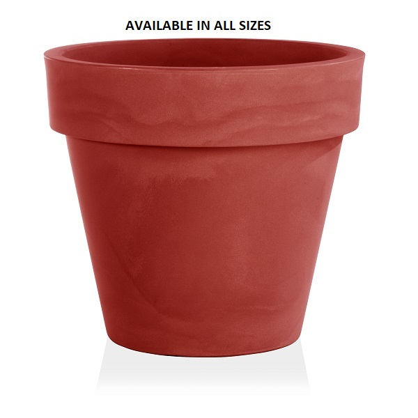 Standard One Plant Pot in Red