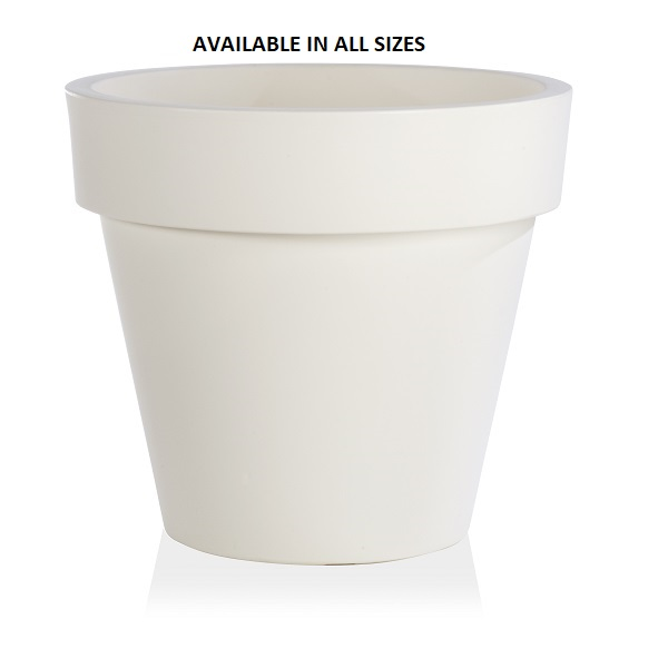 Standard One Plant Pot in White