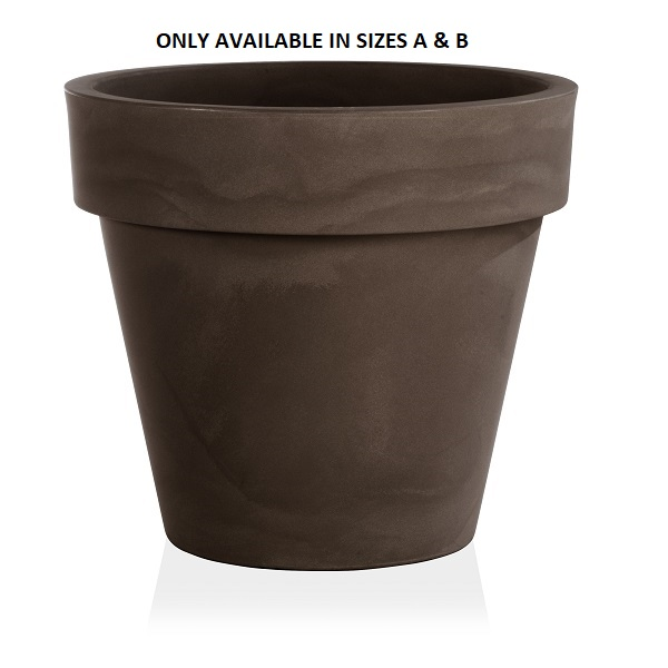 Standard One Plant Pot in Brown