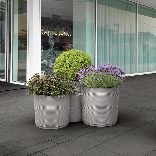 3 Modular Planters - Urban Grey