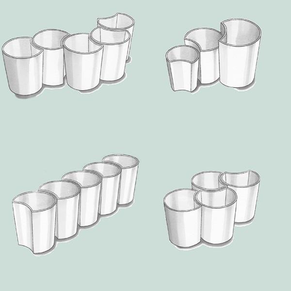Ways to display modular planters